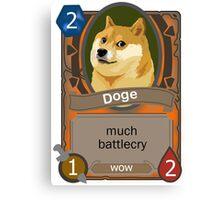 Doge Card Canvas Print