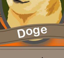 Doge Card Sticker