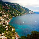 High Above Positano by Barbara  Brown