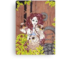 The Owl Keeper Canvas Print