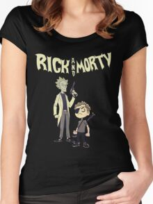 rick and morty mafia Tshirt Women's Fitted Scoop T-Shirt