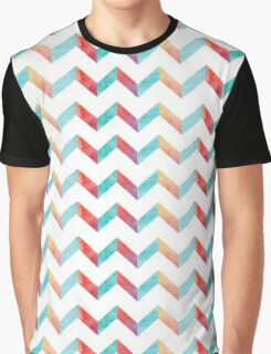 Color Blocked Chevron Graphic T-Shirt
