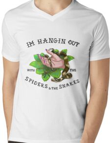 Spiders and snakes (white background) Mens V-Neck T-Shirt