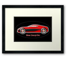 Rimac Concept One  All-Electric SuperCar Framed Print