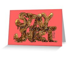 Stay Sweet Watercolor Typography Painting Greeting Card