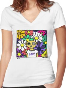 DMT Women's Fitted V-Neck T-Shirt