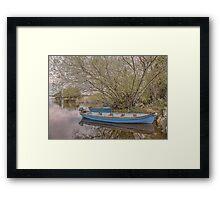 Blue Boats at Lough Leane Framed Print
