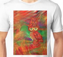 Miss Extravaganz Fall Fashion Owl Unisex T-Shirt