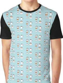 Coffee Cups Graphic T-Shirt