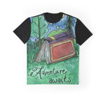Adventure Awaits Watercolor Painting Graphic T-Shirt