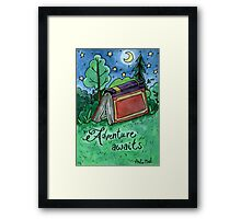 Adventure Awaits Watercolor Painting Framed Print