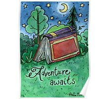 Adventure Awaits Watercolor Painting Poster