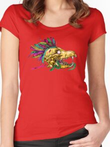 Wolf Skull Women's Fitted Scoop T-Shirt