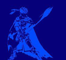 Ike Minimalist Blue by jamden37