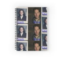 Paul Rudd Then and Now Spiral Notebook