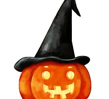 Halloween  Witch Pumpkin Head by colonelle