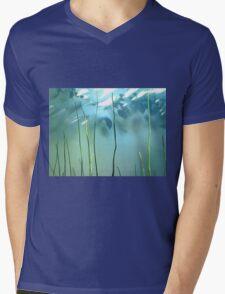 cool blue Mens V-Neck T-Shirt