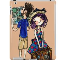Travel Couple Watercolor Painting iPad Case/Skin