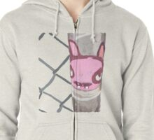 Unchained Graffiti Rabbit   Zipped Hoodie