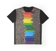 Colored Pencils Graphic T-Shirt