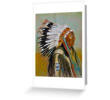 Brule-Sioux Chief Greeting Card