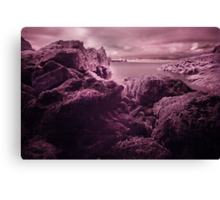 Infra Red Seaweed Rock , Broad Haven, Pembrokeshire Canvas Print