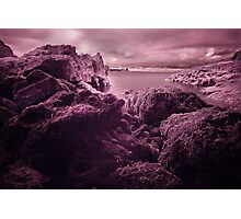 Infra Red Seaweed Rock , Broad Haven, Pembrokeshire Photographic Print
