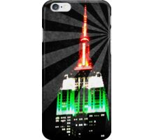 The Empire State Building on a warm summer night iPhone Case/Skin