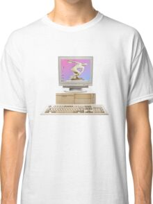 Vaporwave Statue on Vintage PC Classic T-Shirt