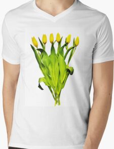 Tulip Tangle Mens V-Neck T-Shirt