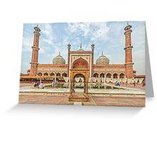 Jama Masjid - Delhi, India Greeting Card