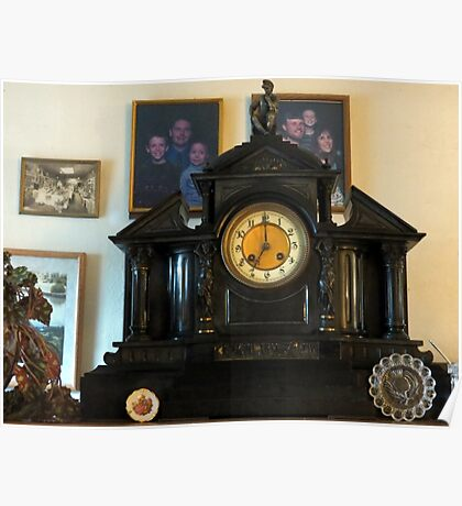 1800 Slate Clock...Gifted To Us From My Aunt Jean Poster