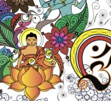 Buddha Doodle Sticker