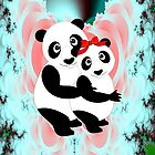 Two Panda Bears in Love by Dennis Melling