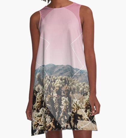 Desert Geo A-Line Dress