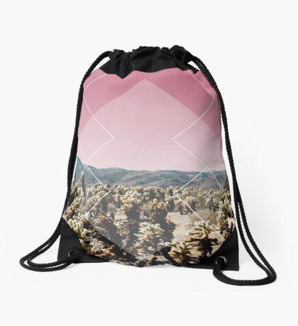 Desert Geo Drawstring Bag