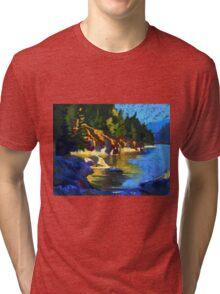 Belcarra. Yellow Reflections Tri-blend T-Shirt