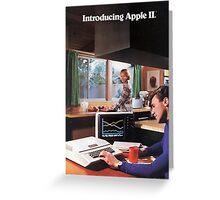 APPLE 2 CLASSIC AD  Greeting Card