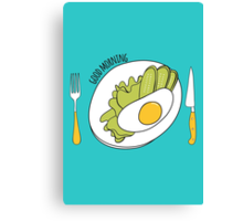 Morning meal Canvas Print