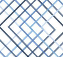 Blue square spread Sticker