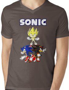 TEAM SONIC TSHIRT Mens V-Neck T-Shirt