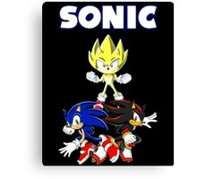 TEAM SONIC TSHIRT Canvas Print