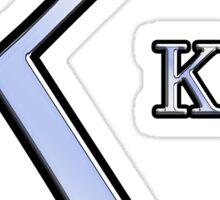 Kappa Greek Letter Symbol Chrome Carbon Style Sticker