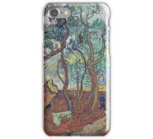 Vincent Van Gogh -  Garden Of  Asylum In Saint-Remy, 1889 iPhone Case/Skin
