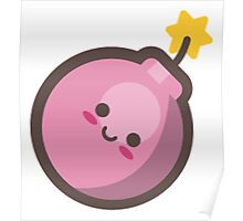 Cute Happy Pink Bomb Poster