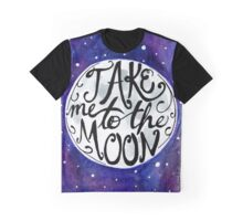 Take Me to the Moon Watercolor Painting Graphic T-Shirt