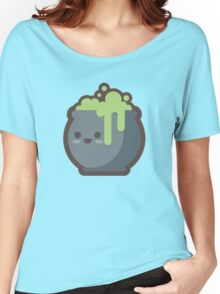 Cute Happy Cooking Green Cauldron Women's Relaxed Fit T-Shirt