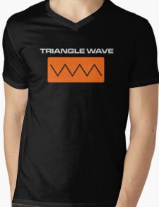 Triangle Wave Mens V-Neck T-Shirt