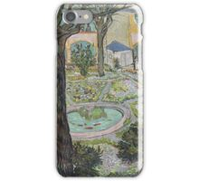 Vincent Van Gogh -  Courtyard Of  Hospital In Arles, 1889 iPhone Case/Skin
