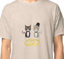Wedding Cats with Rings Classic T-Shirt